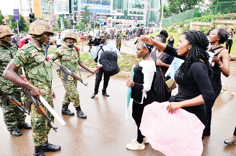 Army arresting female students at Makerere University