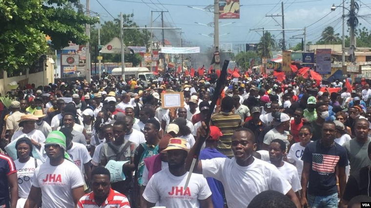 Haitians took to the streets to protest against corruption