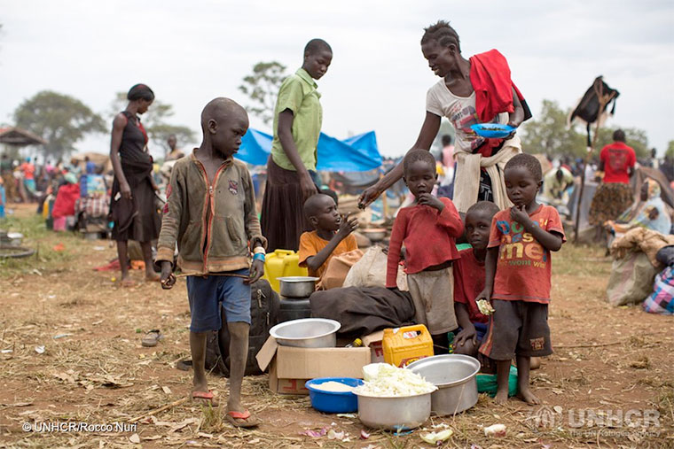 Refugee children in Uganda