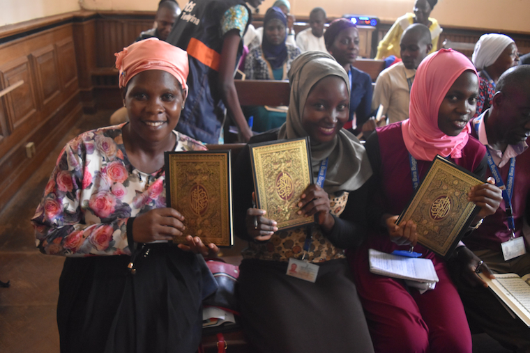 Some of the participants with their Qur'an