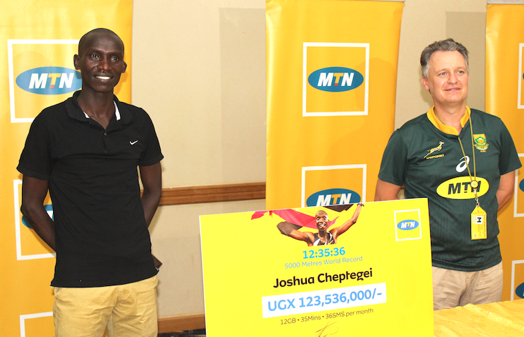 Joshua Cheptegei whas been rewarded for his new World Record