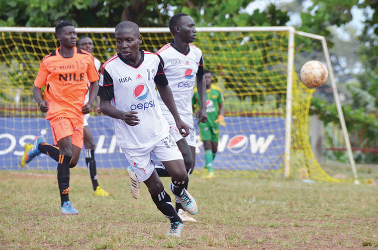IUEA in action against MUBS last season which was their inaugural season. They played six games, drawing twice against KU and losing four to MUBS and UCU on home-and-away basis.