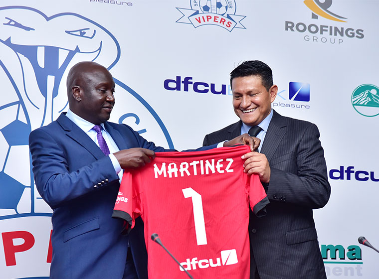 Javier Martinez when he signed for Vipers