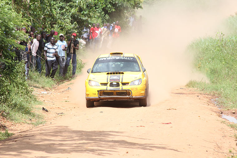 Jas Mangat cruises past fans in a previous rally