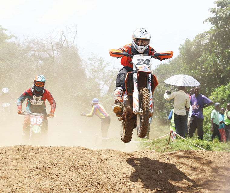 Motorcylists in action during a recent motocross event at Garuga circuit