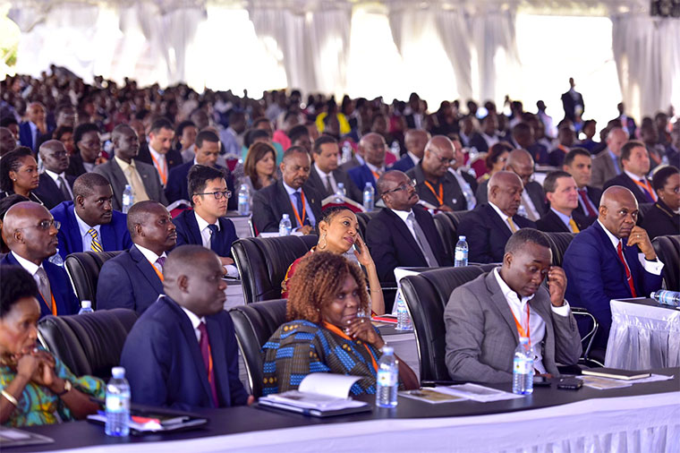 Youth attending a conference in Kampala recently