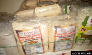 Potato porridge on display